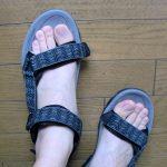 歩きやすい!踵付きサンダルのサイズ感と履き心地